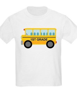 1st Grade School Bus T-Shirt SR01