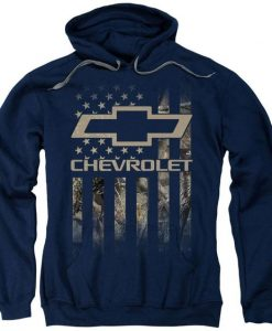 Chevrolet Camo Flag Pullover Hoodie FD01