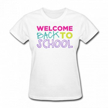 Welcome To School T-shirt SR01