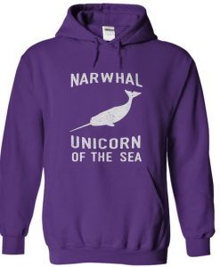 Narwhals Unicorm of the sea Hoodie KH01