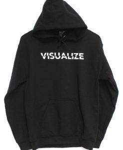 Visualize Black Graphic Hoodie KH01