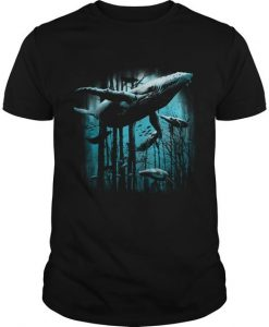 Whale Forest T-Shirt ZK01