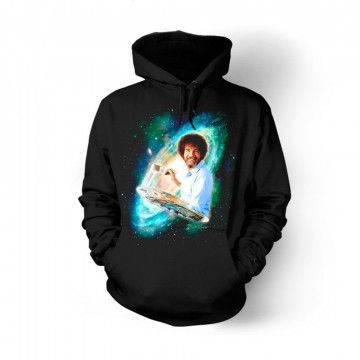 Bob Ross The Joy Of Painting Galaxy Hoodie EL29