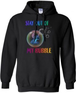 Disney Stitch Stay Out My Bubble Hoodie DV