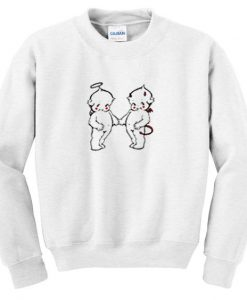 angel and devil sweatshirt FD30N