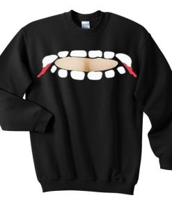 vampire teeth cut out sweatshirt FD30N