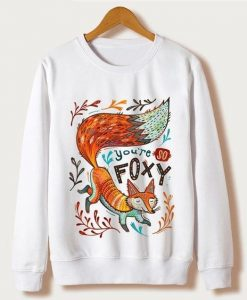 Animal Fox Print Sweatshirt VL21D