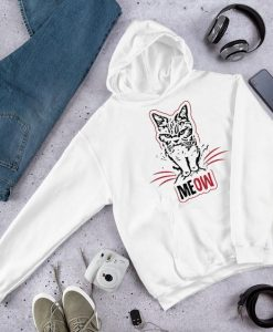 Cat says MEOW Hoodie FD7D