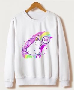 Rainbow Unicorn Sweatshirt Fd4D