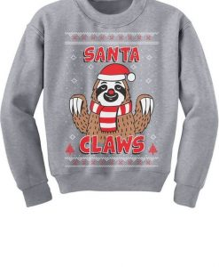 Santa Claws Sloth Sweatshirt FD4D