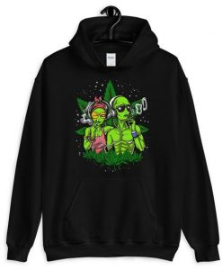 Space Aliens Smoking Hoodie EL18D