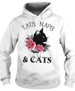Tats naps and cats flower Hoodie FD7d