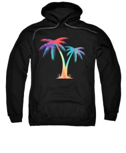 Tropical Palm Trees Hoodie FD7d