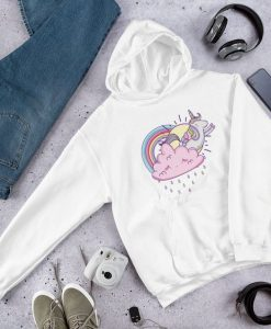 Unicorn Sun and Rainbow Hoodie FD7D