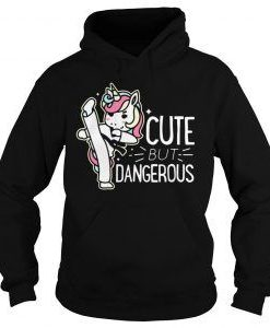 Unicorn cute but dangerous hoodie FD7D
