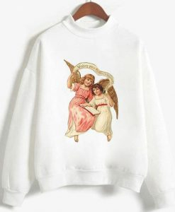 two Angels Sweatshirt Fd4D