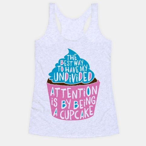 Attention Cupcake Tank Top SR21J0