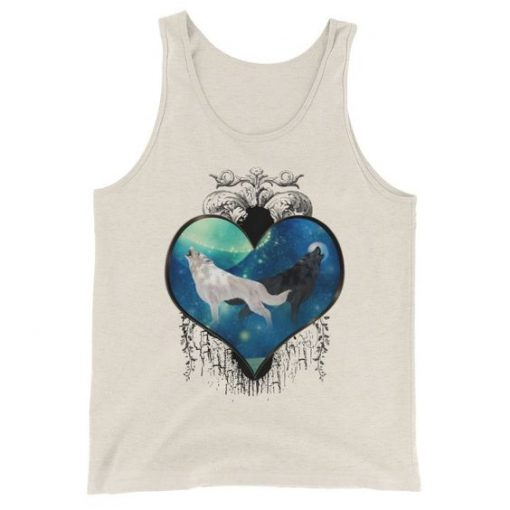 Awesome black and white wolf Tanktop FD24J0