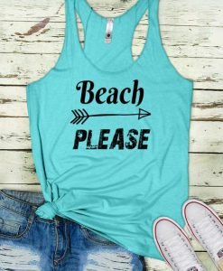 Beach Please Tank Top SR17J0
