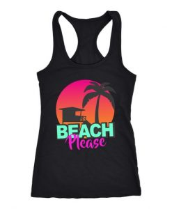 beach please cute Tank Top SR17J0