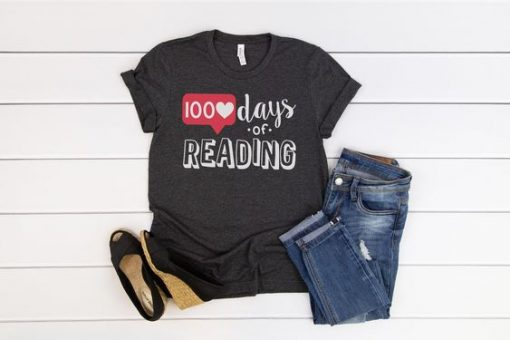 100 Days of Reading Tshirt FD27F0