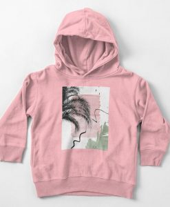 Banana Palms Abstract Hoodie FD7F0