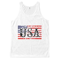 Vintage 4th Of July Tanktop EL4F0