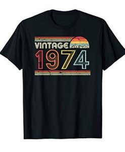1974 Vintage Birthday T-shirt DF11M0