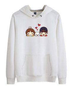 Cartoon Printed Hoodie LE30M0