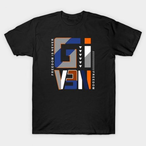 Typography Freedom T-Shirt ND4M0
