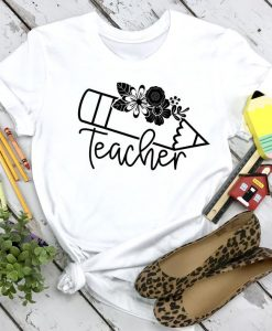 Teacher Flower Shirt LI28AG0
