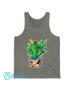 cactus monster sticker dark Tank Top EL10D0